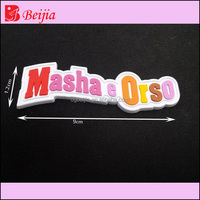 Custom 3D silicone PVC rubber label patch for dress by label machine