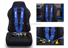 "Racing Street 4 Point Bolt-In 3"" Seat Belt Harness (Blue)"