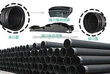 steel belt reinforced PE spiral corrugated winding pipe making machine