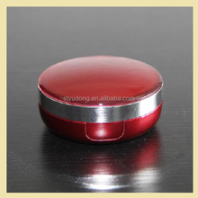 GS0102 compact powder cosmetic packaging 2 layer round compact mirror compact powder case compact powder
