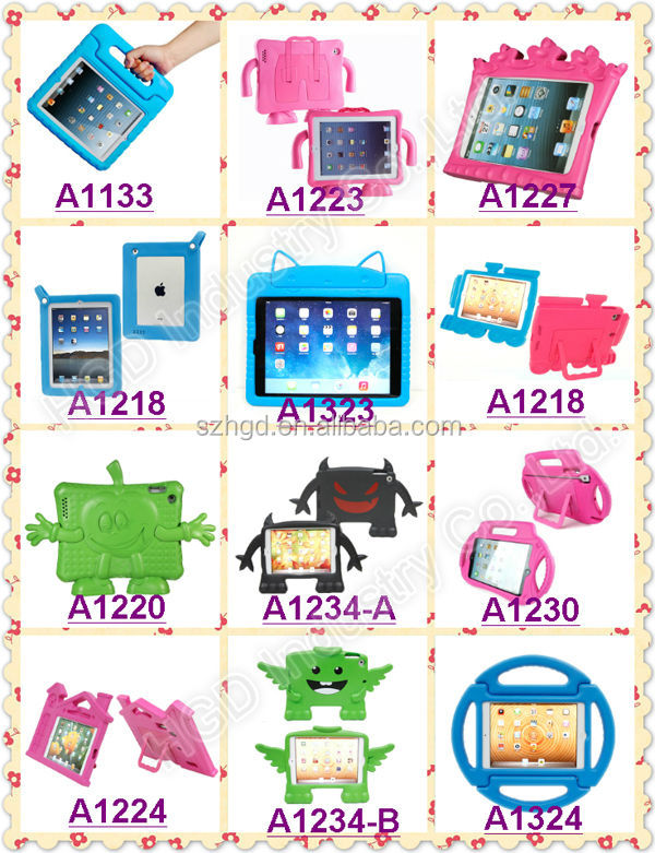 Best Selling Christmas Gifts Children Friendly Rotating Stand Case for iPad Mni