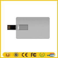 pendrive aluminum credit customized any logo/ pendrive name card USB business card stick