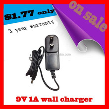 5V 7.5V 9V 0.5A 1A 2A AC/DC USA Chargers Adapters Power Supply with ce rohs fcc