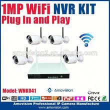 best 720p surveillance cctv nvr case 4ch h.264 nvr kits bullet camera ir night vision(WNK401)