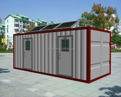 Chinese self-contained 20 ft shipping container anti-rust toilet for camping site