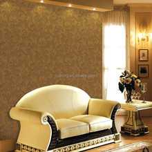 supply deep embossed floral waterproof wallpaper for decoration
