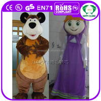 HI CE Adult masha and the bear mascot costumes