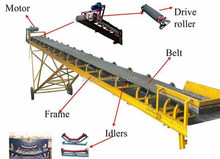 Used rubber belt conveyor made in china