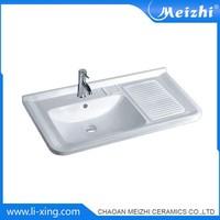 Square Porcelain clothes types of cabinet basins