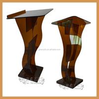fashion plexiglass podium church pulpit, lecture podium conference table