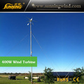 400 W fuente de la fábrica de turbina de viento horizontal para uso doméstico