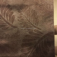 cationic fashion blackout embossed curtain fabric
