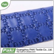 woven pu synthetic leather/pu for bag luggage