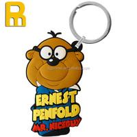 Promotional souvenir giveaway gift 3D soft PVC key ring