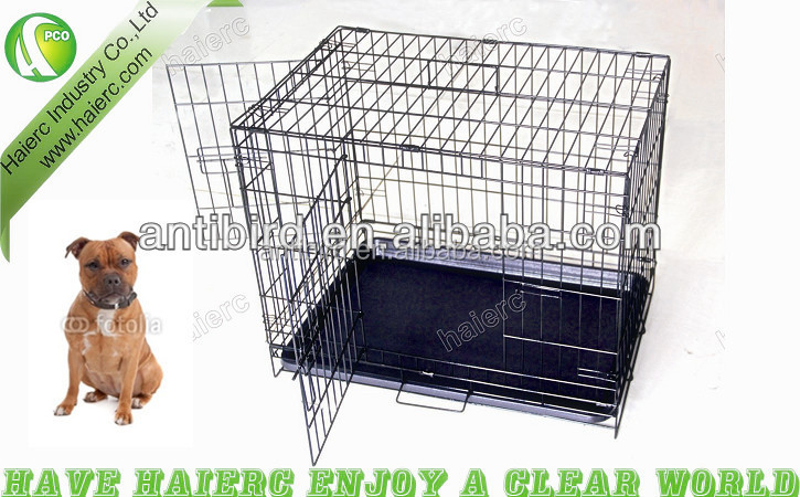 Factory Stainless Steel Dog Kennel, Wire Foldable Dog Cage DSA24