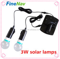 China alibaba wholesale mini solar light kits dual 3W solar led bulbs lamps for garden umbrella home outdoor lighing