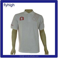 short sleeves white color brand t shirts with polo neck