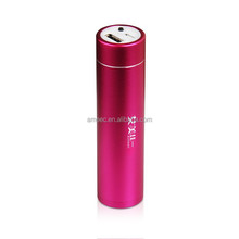 Metal Tube body 2200mAh External Battery charger Power Bank for mobile phone factory cheap price