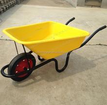 WB3800 Poly Farming Wheelbarrow Solid Rubber Wheel