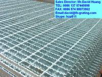 galvanized serrated grating panel, galvanized steel serrated grating