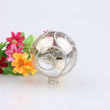 Cheap price glassware factory OEM branded high quality kinds of Dia. 80mm LED light handmade glass christmas ball ornament bulk