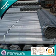 ferro galvanizado estrutural rodada tubos de aço de fabricação