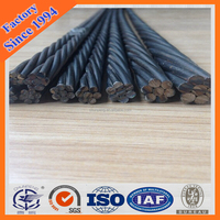 12.7mm prestress concrete steel strand/ high tensile pc wire strands