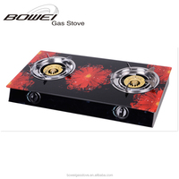 Lpg gas cylinder tempered glass infrared gas stove top