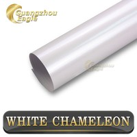"""2015 New Arrival 59""""x21.8yds With Air Channel For Car Color Change Pearl White Car Vinyl Wrap"""