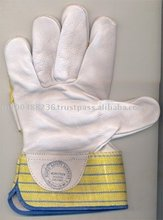 PURE CHROME CANVAS LEATHER HAND GLOVES / HEAVY DUTY GLOVES