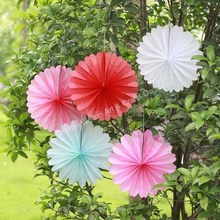 Party decorations folded hanging paper decoration