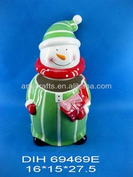 2014 Christmas snowman candy jar