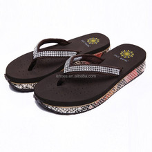 Fashion black casual women high heel beach sandals