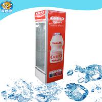 supermarket single glass door upright coke cooler refrigerator