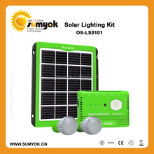 5W portable Solar energy system with 8000mAh lithium battery for USA market