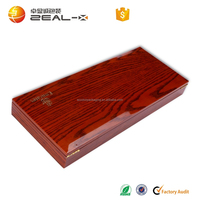 New design quality and quantity ensured custom rectangle logo printing wood phone case packaging