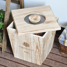 High capacity home used cheap paulownia wood storage box for rice and beans