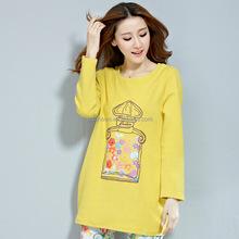 Autumn maternity T-shirt, long sleeve , big size cotton T-shir
