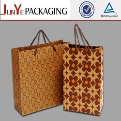 Empty basic brown kraft gift customized size paper bag