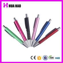HH-007 cheap metal pen factory supply Metal promotional gift bulk short ballpoint pen