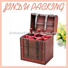 6 Bottle Packed Wooden Wine Case Carrier