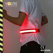 LED luminous belt,LED light belt,LED reflective waist belt with CE EN13356