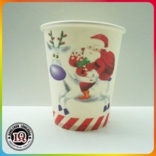 8oz Disposable Christmas Tree Single Wall Paper Cup