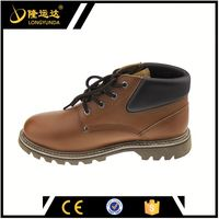 Goodyear Middle Smooth Action Leather Upper Rubber Outsole Safety Shoe Made in China