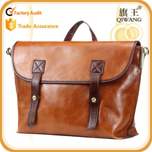 Preppy style school bag vintage satchel leather messenger bag for ladies