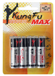 r6 aa size battery carbon battery