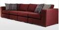 Abingdon modular sofá de canto de grupo, vermelho escuro
