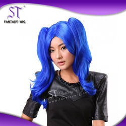 Stocks factory wholesale cheap price kanekalon synthetic hair purple cosplay wig