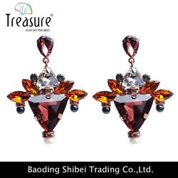 Brand new crystal earrings for wholesales