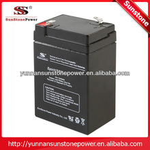 Made in china AGM 6v 4ah rechargeable lead acid battery